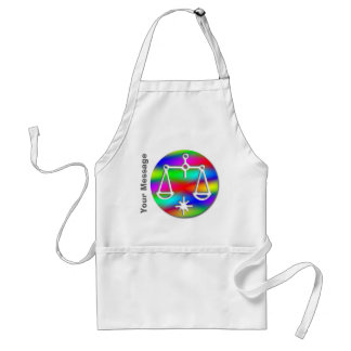 Libra Rainbow Scales Zodiac Crafts and Chef Aprons