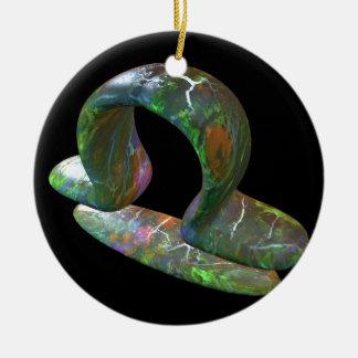 Libra Round Ceramic Decoration