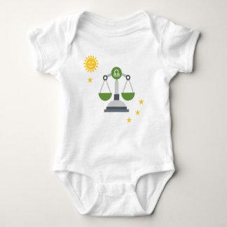 Libra scales baby bodysuit - zodiac star sign