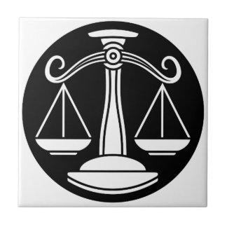 Libra Scales Zodiac Horoscope Sign Ceramic Tile