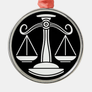 Libra Scales Zodiac Horoscope Sign Metal Ornament