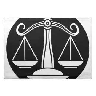 Libra Scales Zodiac Horoscope Sign Placemat