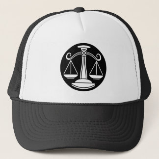 Libra Scales Zodiac Horoscope Sign Trucker Hat