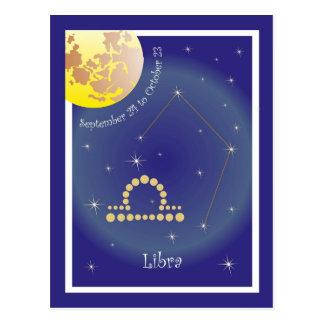 Libra September 24 tons of October 23 postcard