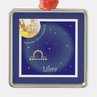Libra September 24 tons of October 23 Silver-Colored Square Decoration