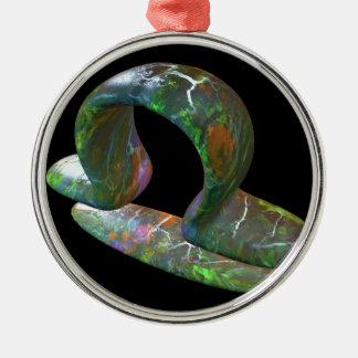 Libra Silver-Colored Round Decoration