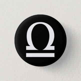 Libra Small, 1¼ Inch Round Button