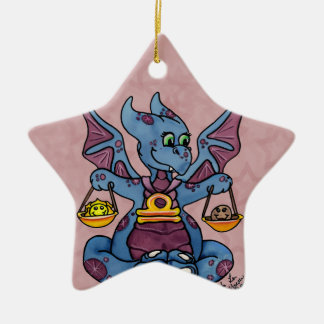 Libra star ornament cute baby dragon zodiac