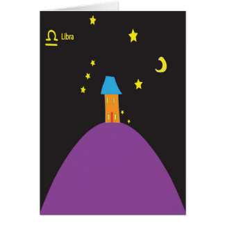 Libra star sign birthday card