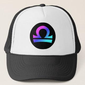 Libra symbol hat circle crest