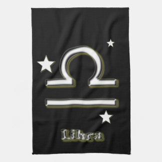 Libra symbol tea towel