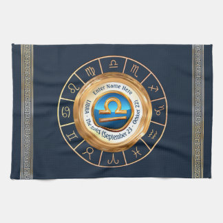Libra - The Scales Astrological Sign Tea Towel