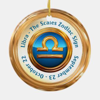 Libra - The Scales Horoscope Sign Round Ceramic Decoration