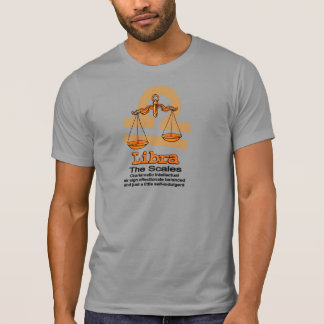 Libra The Scales zodiac astrological orange shirt