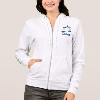Libra the scales zodiac blue ladies zip hoodie