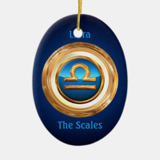 Libra - The Scales Zodiac Sign Ceramic Oval Decoration