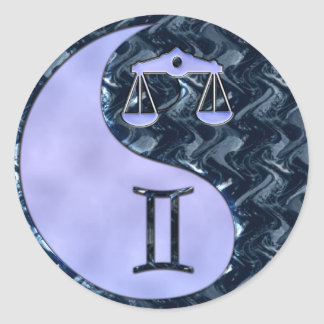 Libra Yin Yang Classic Round Sticker