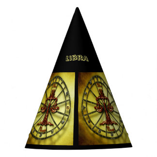 Libra Zodiac Astrology design Party Hat