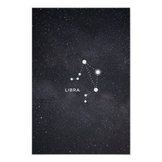 Libra Zodiac Constellation Poster