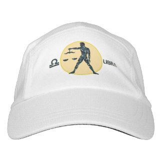 Libra Zodiac Knit Performance Hat, White Cap