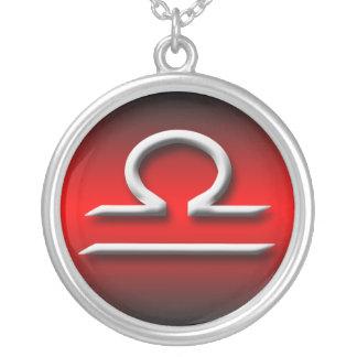 Libra Zodiac Red Gradient Necklace