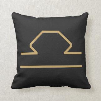 Libra Zodiac Sign Basic Throw Pillow