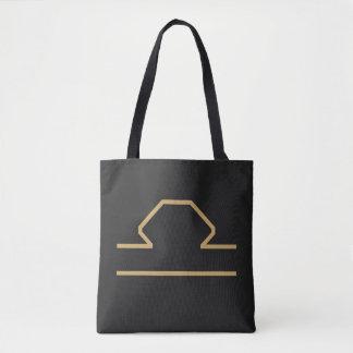 Libra Zodiac Sign Basic Tote Bag