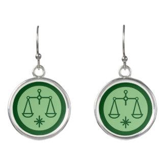 Libra Zodiac Sign Earrings