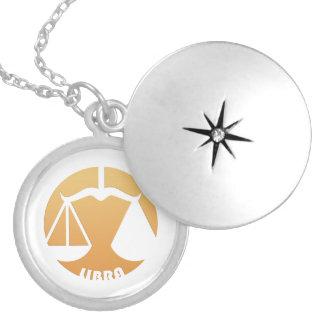 Libra Zodiac Sign Round Locket Necklace