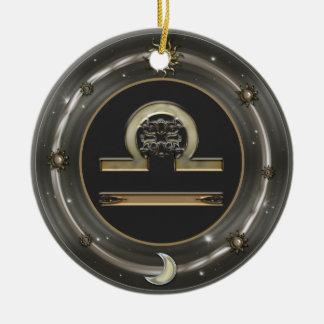 Libra Zodiac Sign Round Ceramic Decoration