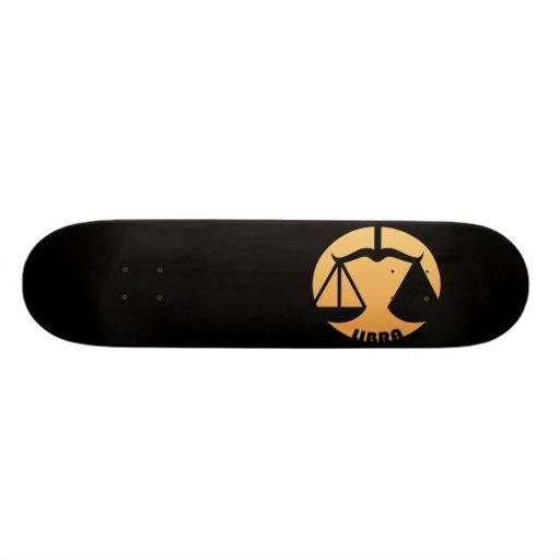 Libra Zodiac Sign Skate Deck