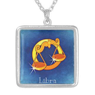 Libra Zodiac Square Necklace