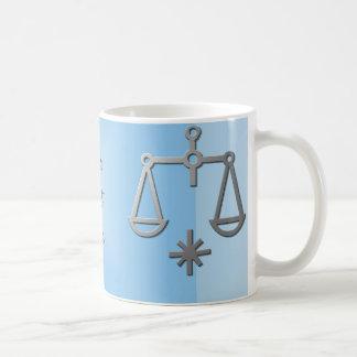 Libra Zodiac Star Sign Silver Blue Tea Coffee Mug