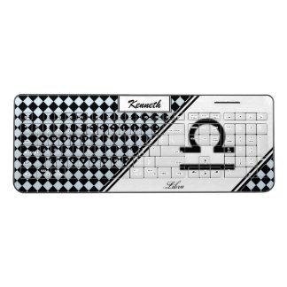Libra Zodiac Symbol Standard by Kenneth Yoncich Wireless Keyboard