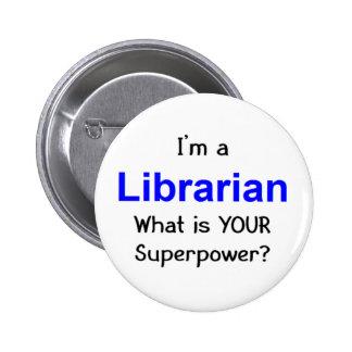 Librarian 6 Cm Round Badge
