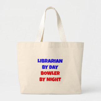 Librarian by Day Bowler by Night Jumbo Tote Bag