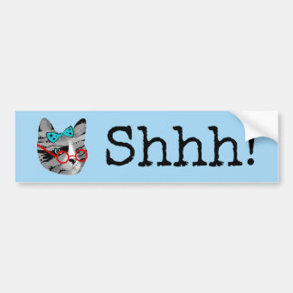Librarian Cat Bumper Sticker