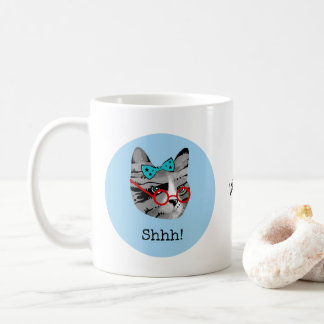 Librarian Cat Coffee Mug