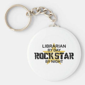 Librarian Rock Star by Night Keychain