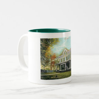Librarians on the Porch, Bound Brook NJ Vintage Two-Tone Coffee Mug