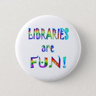 Libraries are Fun 6 Cm Round Badge
