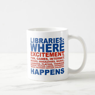 Libraries excitement mug