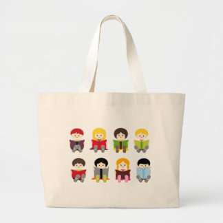 Library4 Large Tote Bag
