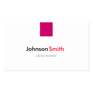 Library Assistant - Simple Rose Pink Pack Of Standard Business Cards
