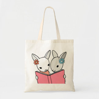 Library Bag Bunny tote Bag Book Bag Gift for Girls