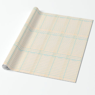 Library Book Date Due Card Wrapping Paper