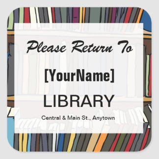Library Book Return sticker