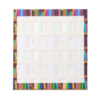 Library Book Shelf Pattern for Readers Notepad