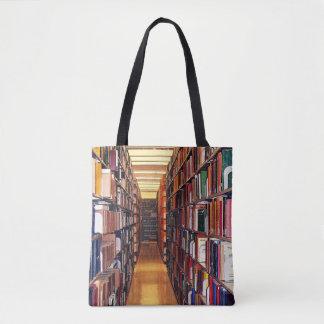 Library Book Shelves Tote Bag