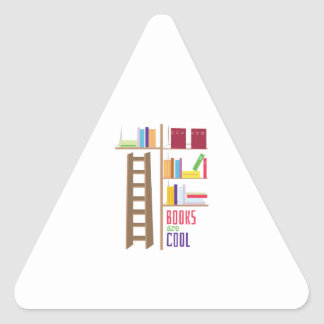 Library_Books_Are_Cool Triangle Stickers